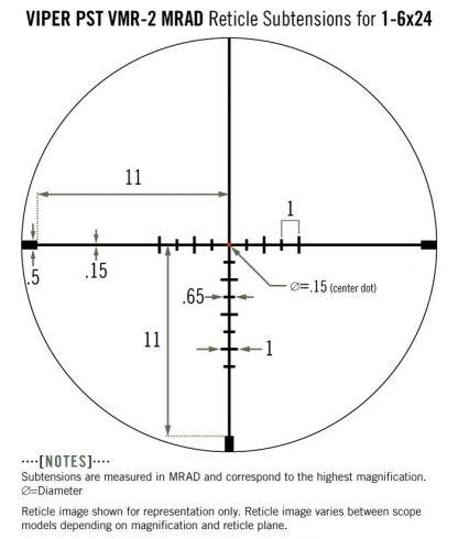 Сетка PST-G2 1-6X24 VMR2-MRAD